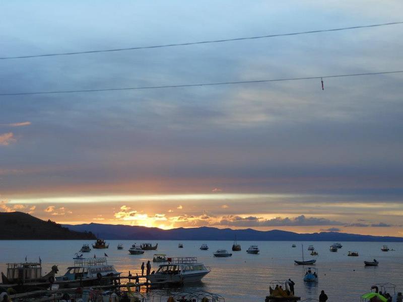 Sonnenuntergang in Bolivien