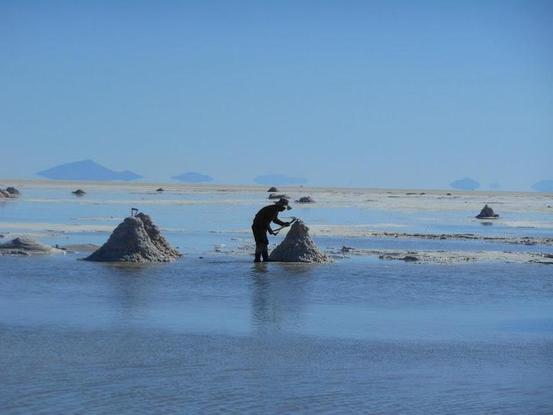 Uyuni Salzwüste in Bolivien
