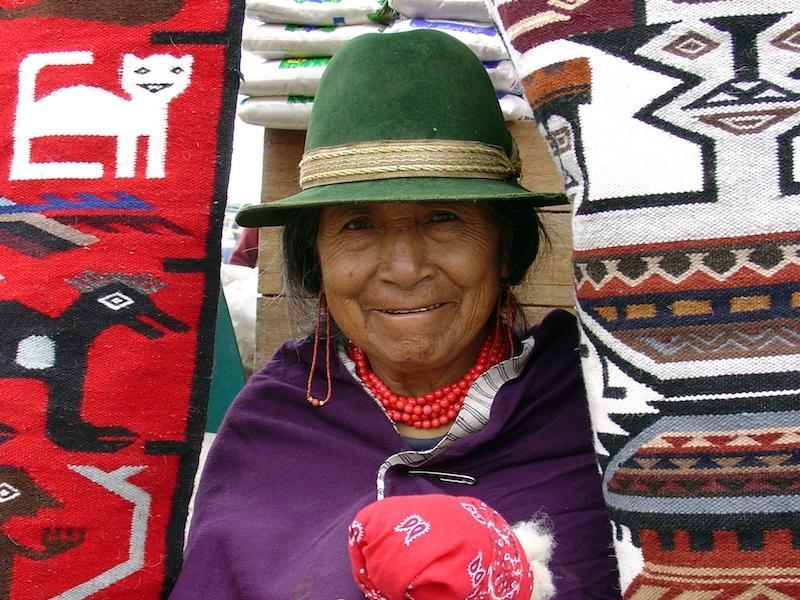Einheimische in Ecuador