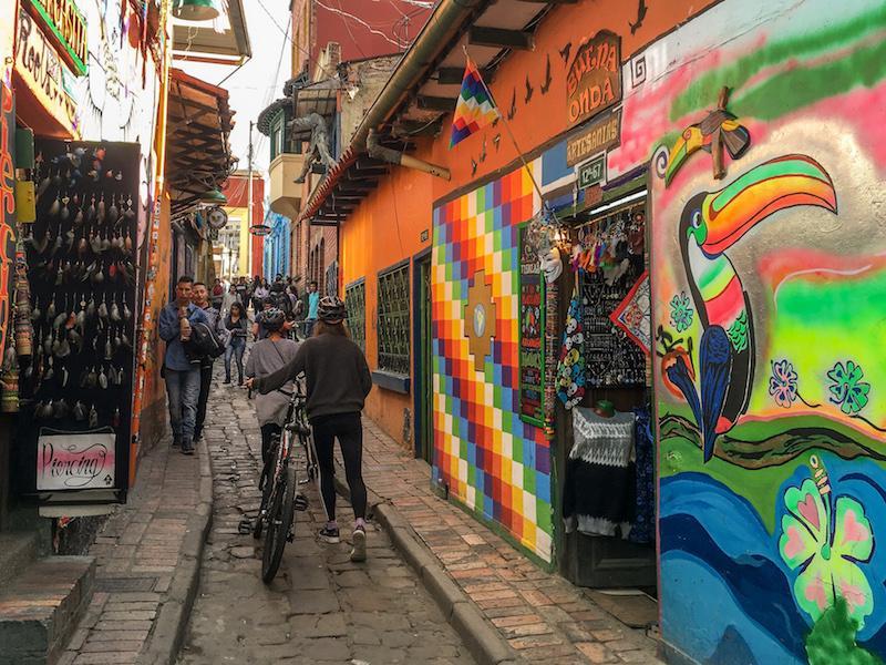 Straße in Bogota, Kolumbien