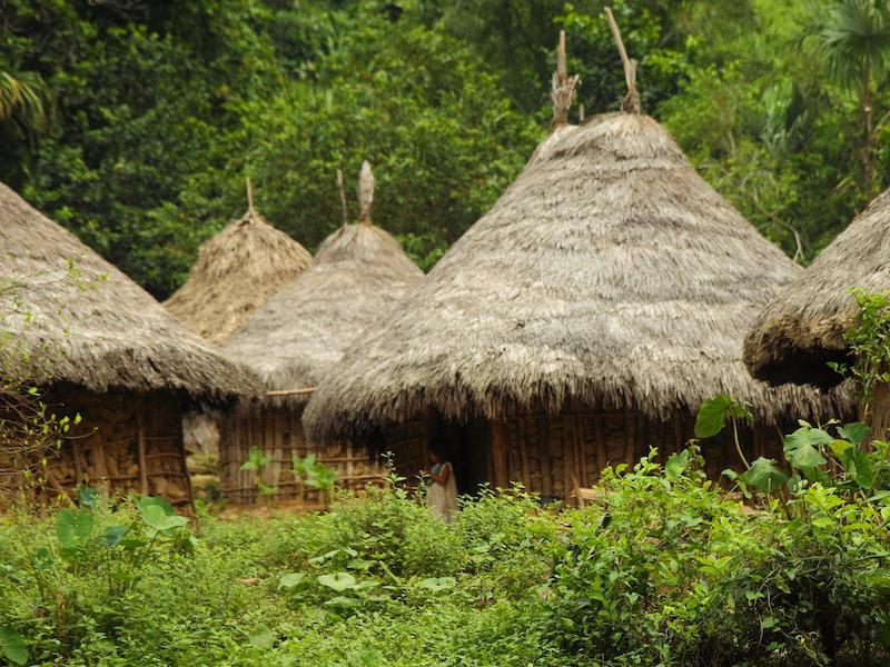 Kleine Hütten in der Ciudad Perdida