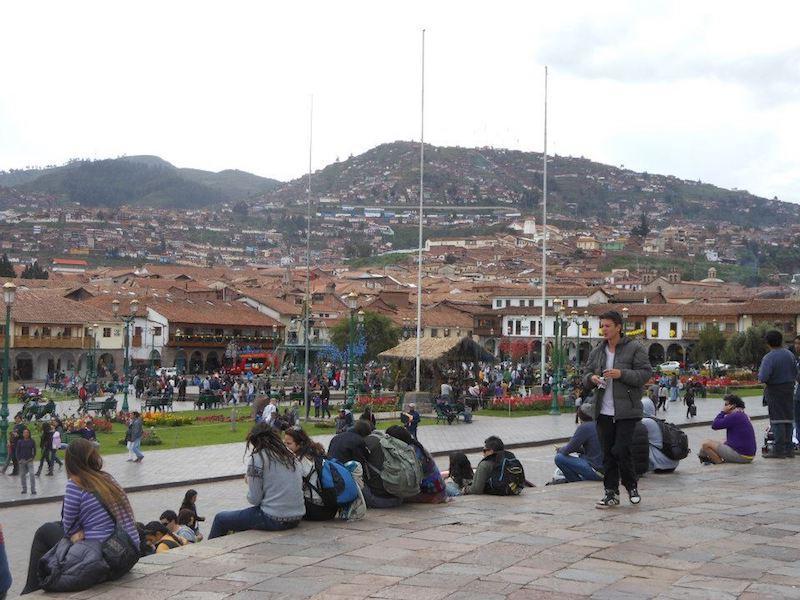 Öffentlicher Platz in Cusco, Peru