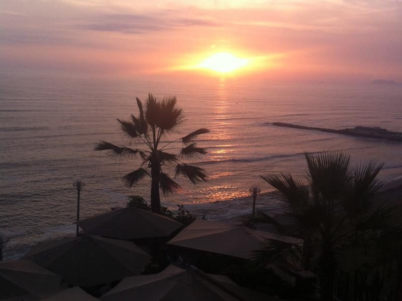 Sonnenuntergang in Lima, Peru
